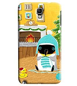 Blue Throat Penguine In Cold Printed Designer Back Cover For Samsung Galaxy Note 3 Neo