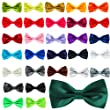 New Mens Pure Plain Bowtie Polyester Pre Tied Wedding Party Bow Tie black