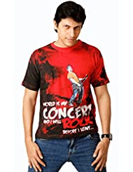 Attabouy Fading Rocker Mens Cotton T-shirt-Red