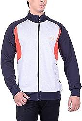 UCC Men's Fleece Regular Fit Sweatshirts (UCC6018NAVY-XL)