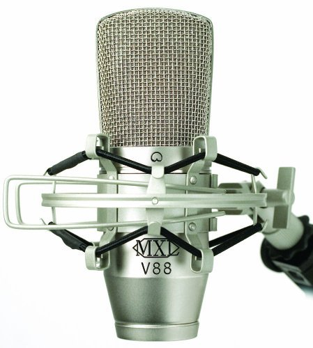 New Mxl/Marshall Mxl V88 Studio Microphone 20Hz-20Khz Aluminum Flight Case High Isolation Shockmount