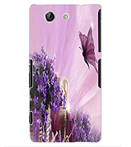 ColourCraft Beautiful Butterfly Design Back Case Cover for SONY XPERIA Z4 MINI / COMPACT