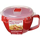 Sistema Microwave Noodle Bowl - 900 ml, Red/Clear