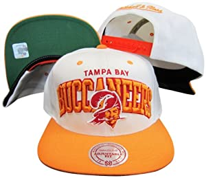 NFL Mitchell Ness Throwback Logo Arch Snapback Cap Hat NE10 Tampa Bay Buccaneers by Mitchell & Ness