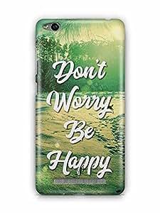 YuBingo Don't Worry. Be Happy Designer Mobile Case Back Cover for Xiaomi Redmi 3S
