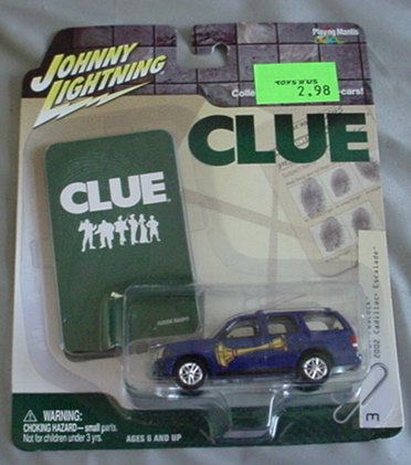 Johnny Lightning 1:64 Clue 2002 Cadillac Escalade BLUE