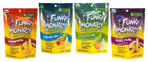 Funky Monkey Snacks Variety Pack, Freeze-Dried Fruit, 1-Ounce Bags (Pack of 12)