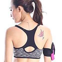 Fashion Women Sports Bra Running Fitness Workout Stretch Padded Racerback Top Tank