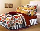 Bellagio Pure Collection Cotton 1 Double Bed Sheet & 2 Pillow Covers (White)