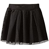 kc parker Big Girls' Knit Skirt with Mesh Overlay