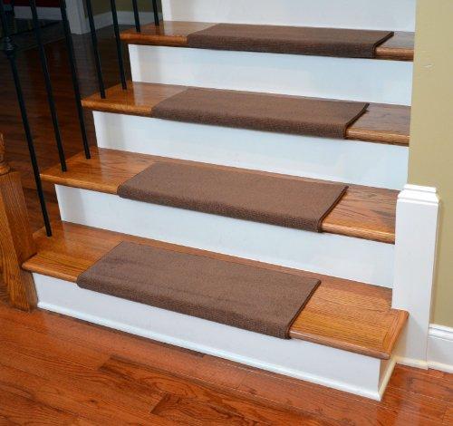 Dean Premium Bullnose Carpet Stair Treads - Odette Pointe Mantle (13) Plus Installation Tape