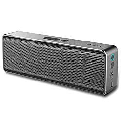 Rock MUBOX Bluetooth Speaker Stereo Subwoofer Square Box Aluminum Alloy Speakers Music MP3 Player - Grey Tarnish