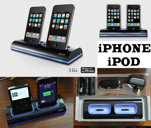 dexim socle chargeur double de bureau dual dock pour iphone 4 3gs 3g v1 ipod touch. Black Bedroom Furniture Sets. Home Design Ideas