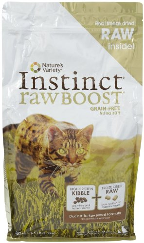 Nature's Variety Instinct Raw Boost Grain-Free Duck & Turkey Meal Formula Dry Cat Food, 5.1 lb. Bag