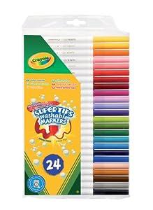 Crayola 7551 - Estuche De 24 Rotuladores Finos