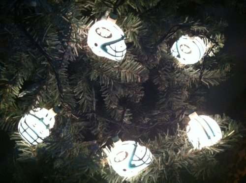 NFL Party String Lights - NY Jets Football Helmet Christmas Lights Sporting Goods Team Sports ...