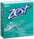 Zest Aqua With Refreshing Scent And Rich Lather 4 Bars Family Deodorant Bars Get Zestfully Clean (2 Pack)