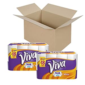 Viva Paper Towels, White, Giant Roll, 12 Rolls (Pack of 2)