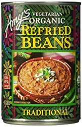 Amy\'s Organic Refried Beans, 15.4-Ounce Cans (Pack of 12)
