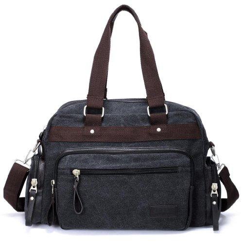 Eshow Men's Retro Weekend Canvas Travel Shoulder Bag