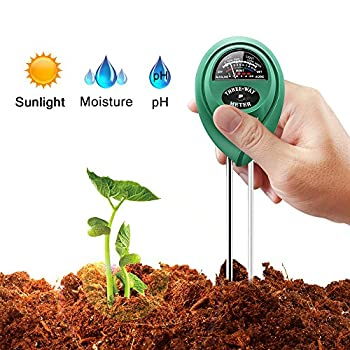 Marge Plus Soil Moisture Meter, 3 in 1 Soil Test Kit Gardening Tools for PH, Light & Moisture, Plant Tester for Home, Farm, Lawn, Indoor & Outdoor (No Battery Needed)