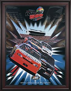 NASCAR Framed 36 x 48 Daytona 500 Program Print Race Year: 42nd Annual - 2000 by Mounted Memories