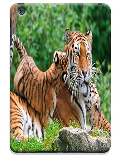 Fantastic Faye Cell Phone Cases For Ipad Mini No.3 The Special Design With Cute Foolishly Gray Pure Tiger On The Water Grass