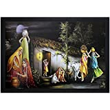 Decorative Paintings || Decorative Paintings For Living Room || Decorative Paintings For Home || Decorative Paintings For Wall || Village Painting || Village Paintings For Living Room || Village Paintings With Frame For Living Room || Village Paintings Wi