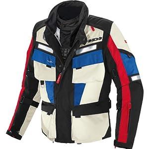 Spidi Marathon H2Out Men's Textile On-Road Motorcycle Jacket - Black/Red/Blue / X-Large