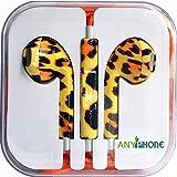 ANYPHONE Colorful Luxury Headset Headphone Earphone Volume Remote+Mic For iPhone4 5 iPad3 4 ipod (13.Tiger Stripe)