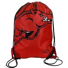 Buy Forever Collectibles NCAA Arkansas Razorbacks Drawstring Backpack by Forever Collectibles
