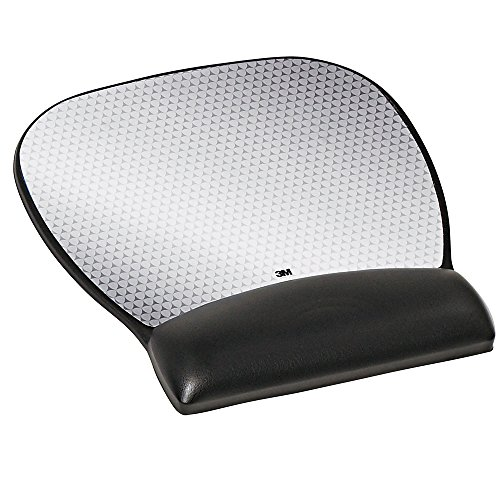 3M Precise Mouse Pad, Leatherette Gel Wrist Rest, Antimicrobial Protection, Battery Saving, 9.25-inch x 8.75-inch, Black (MW310LE) (Gel Wrist Mouse Pad compare prices)