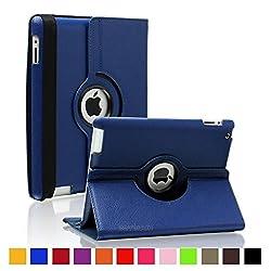 NC iPad Mini 2/3 360 Degree Case cover, Smart PU Leather Stand Flip Case Cover For APPLE iPAD Mini 2/3, Guaranteed Quality!!!! Dark Blue