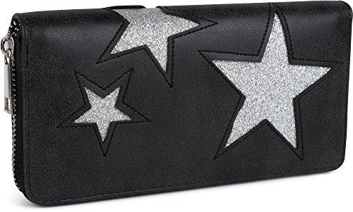 stylebreaker-geldborse-mit-glitzerndem-stern-cutout-muster-und-ziernaht-reissverschluss-portemonnaie