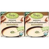 Pacific Natural Foods Organic Cream Of Mushroom Condensed Soup, 12 oz Boxes, 2 pk