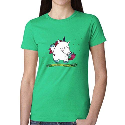 Linpy Unicorn Lumps T Shirt For Women Green