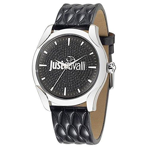 Just Cavalli R7251593502 - Orologio da polso da donna, cinturino in pelle colore nero