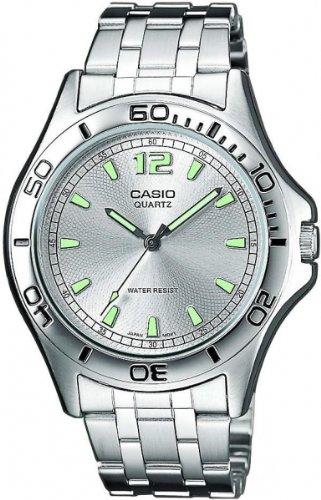 Casio MTP-1258D-7AEF Gents Watch Quartz Analogue White Dial Silver Steel Strap