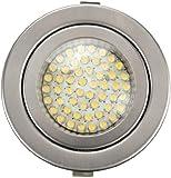 sweet led 52 LED Einbaustrahler, G4, 230V, hohe Lichtstärke, warmweiss, Nichtrostender Stahl, Farbe silber