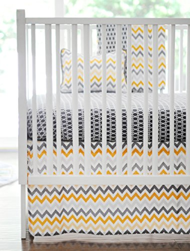 New Arrivals 2 Piece Crib Bed Set, Mellow Yellow