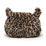 (トライバル)TRIBAL もふもふレオパードフェイクファー 猫顔チェーンショルダーバッグ モカ
