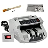 ZENY Bill Money Counter Worldwide Currency Cash Counting Machine UV & MG Cash Bank (Color: gray)