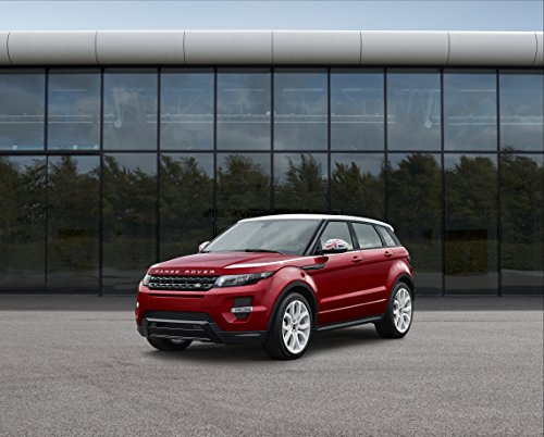 """Land Rover Range Rover Evoque Sw1 Special Edition (2014) Car Art Poster Print On 10 Mil Archival Satin Paper Red Front Side Static View 14""""X11"""""""
