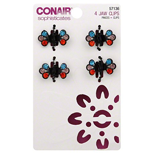 Conair Sophisticates Jaw Clips, 4 clips (Conair Sophisticates Jaw Clip compare prices)