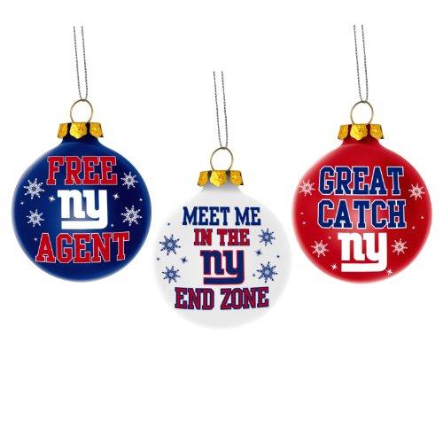 York Giants Glitter Bell Ornament