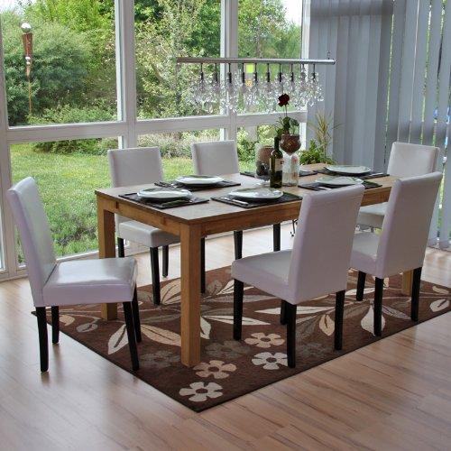 Set 6x sedie Littau pelle per sala da pranzo 43x56x90cm ...