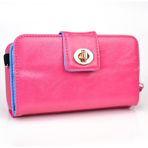 Kroo Magnetic Clutch Wallet For Sony Xperia Z - Carrying Case - Frustration-Free Packaging - Baby Pink front-1061307