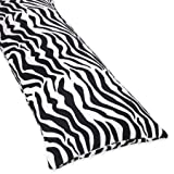 Cotton Full Length Double Zippered Body Pillow Cover for Turquoise Funky Zebra Bedding Set