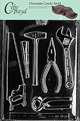 Cybrtrayd D066 Tools Assortment (1 Ea.) Chocolate Candy Mold with Exclusive Cybrtrayd Copyrighted Chocolate Molding Instructions