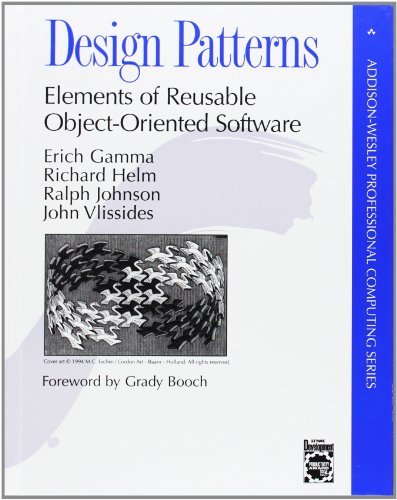 Design Patterns: Elements of Reusable Object-Oriented Software, by Erich Gamma, Richard Helm, Ralph Johnson, John Vlissides